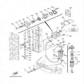 Membrana pompa benzina 80 - 150 hp
