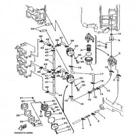 Guarnizione 2 pompa carburante 100 - 250 hp