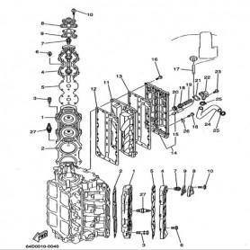 Guarnizione coperchio scarico 150 - 225 hp