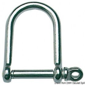 Shackles stainless steel D large mm 8