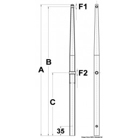 Candlestick stainless steel 610mm