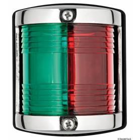 Fanalini in acciaio inox lucidato a specchio, realizzati secondo le vigenti norme IMCO. Omologazione RINA n° ELE324512CS005.