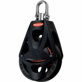 Single block swivel with becket ORBIT series 40mm