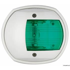 Luce di via Sphera verde/bianco