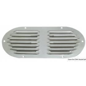Griglia aerazione ovale inox 235x118mm