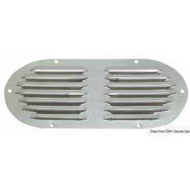 Oval stainless steel ventilation grill 235x118mm