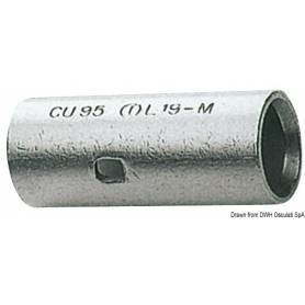 Joint head-to-head copper 35.5 mm for electric wire (25mm)