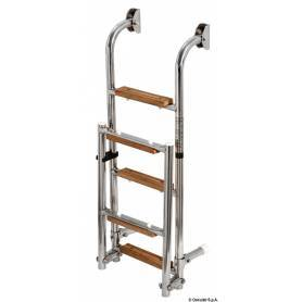 Scaletta inox/legno 5 gradini