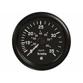 Indicator speed of 35 knots