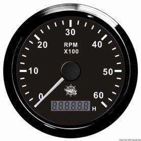 Tachometer 0-6000rpm + hour counter