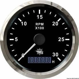 Tachometer 0-3000 RPM + hourmeter