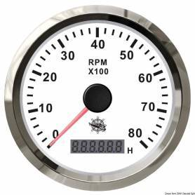 Tachometer 0-8000 RPM + hourmeter
