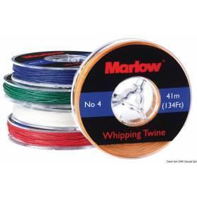 Faden gewachst weiß Marlow 0,8 mm