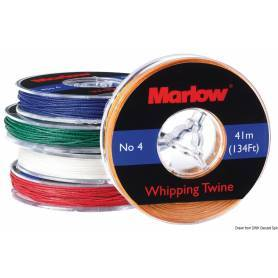 Waxed thread white Marlow 0.8 mm