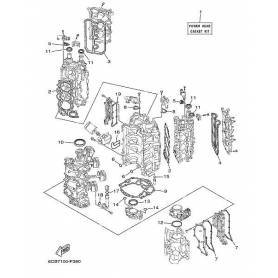 Gasket, cylinder head 250hp