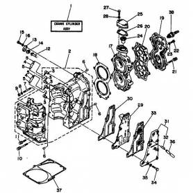 The engine cylinder block 25N