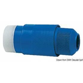 Plug, 30 A, 220 V, blue