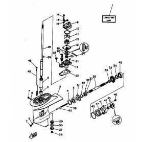Transmission shaft motor 25 hp long