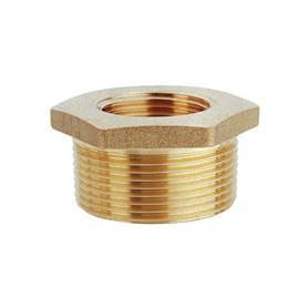 "Brass pipe fitting M/F 1""x3/4"""