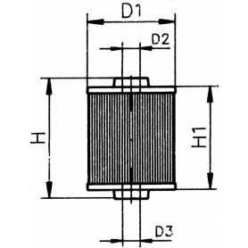 Cartuccia filtro gasolio PFG14