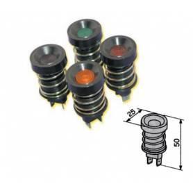 Round orange IP65 indicator light
