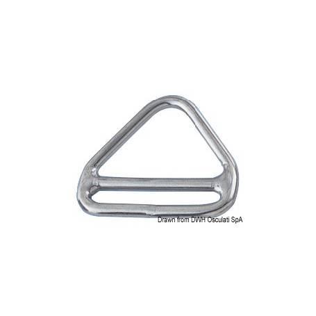 Triangolo inox 6 x 50 mm