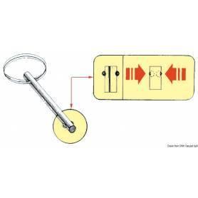 Self-locking stainless steel pin 6 x 76 mm