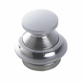 Latch button 16mm brass chrome pearl