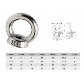 M12 stainless steel eyebolt