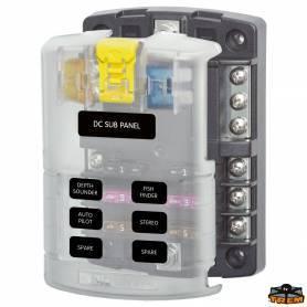 Pannello portafusibili 6 sedi + massa AT0/ATC