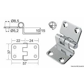 Cantilever hinge 57 x 37 x 15 mm
