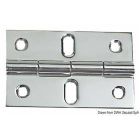 Hinge with protruding knot 80 x 50 mm