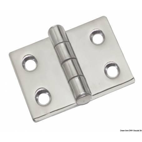 Heavy stainless steel hinge 50 x 50 mm