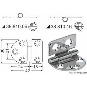 Inverted stainless steel hinge 42 x 30 mm