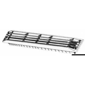 Presa aria Zebra ABS nero 435 x 64 mm