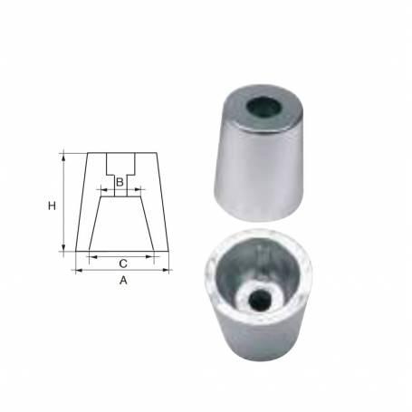 Anodo radice per asse elica 55 mm