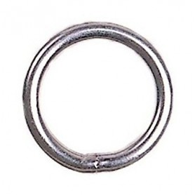 Stainless steel ring for Optimist mainsheet