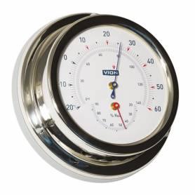 Termoigrometro acciaio inox 127 mm