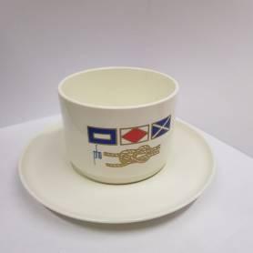Tazzina e piatto caffè Flag
