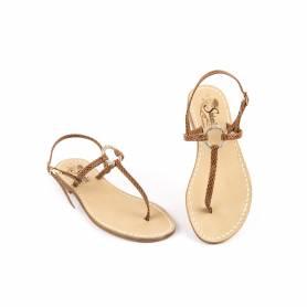 Sandalo infradito Gisella cuoio