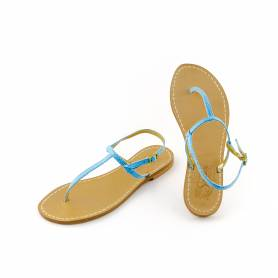 Titty thong sandal in turquoise