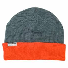 Cappellino beanie arancio-grigio