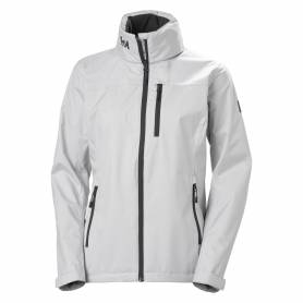 W crew hooded jacket gray fog