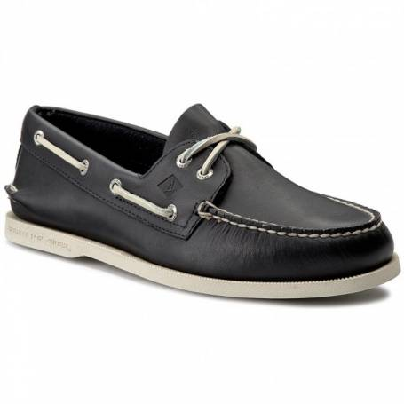 A / O navy boat shoes