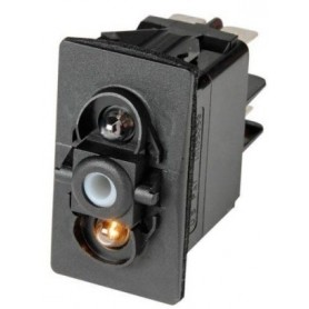 Interruttore Carling Switch Contura (On)-Off led rosso