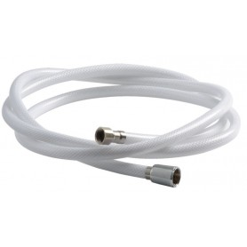 Shower Hose Braided Hose White Nylon 2.5 M