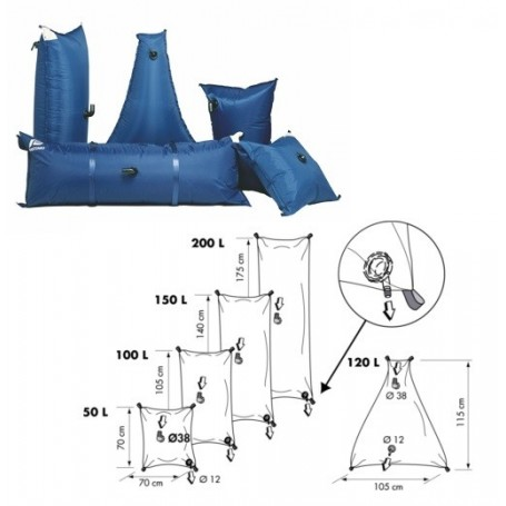 Flexible reservoir water 120 Lt