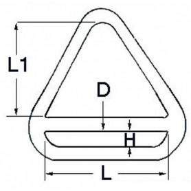 Anello Triangolare Con Barretta Per Zerli Ø8Mm