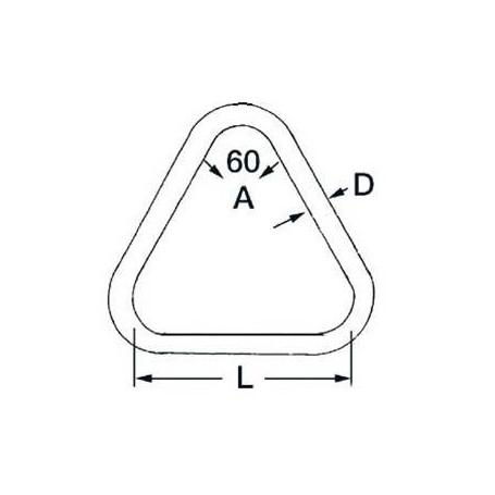 Ring Triangular in zerli Ø8