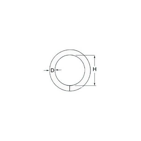 Anello inox 5 x 25 mm
